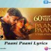Paani Paani Lyrics in English